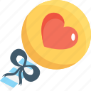 birthday, decorations, heart balloon, party, party balloon icon