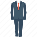 coat, formal suit, men suit, suit, tie icon
