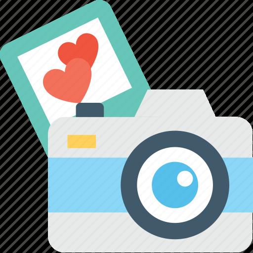 camera, digital camera, heart, loving, photography icon