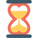 heart, heart hourglass, hourglass, love, waiting icon