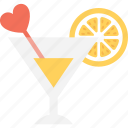 cold drink, drink, heart, juice, lemonade icon