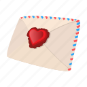 cartoon, day, envelope, heart, letter, love, valentine
