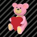 bear, cartoon, day, heart, love, teddy, valentine icon