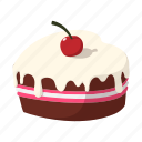 cake, cartoon, cherry, day, dessert, food, sweet icon