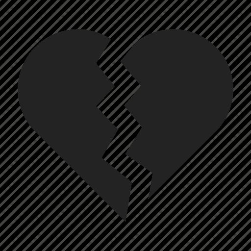 breakup, broken, heart icon