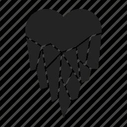 cold, frozen, heart icon