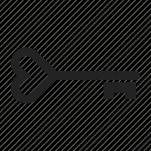 heart, key, shape icon
