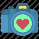 camera, loving, passion, dslr, heart