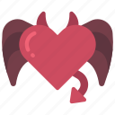 devil, heart, loving, passion, evil