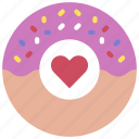 donut, loving, passion, donuts, heart