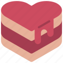heart, cake, loving, passion, food