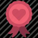 heart, ribbon, loving, passion, banner