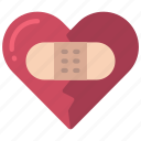 repaired, broken, heart, loving, passion