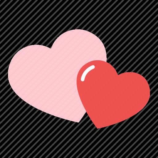 couple, heart, love, valentine icon