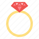 daimond, love, ring, valentine, wedding icon