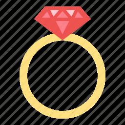 daimond, love, ring, valentine, wedding icon