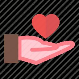 hand, heart, holding, love, valentine icon