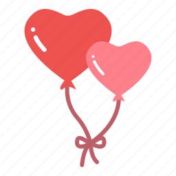 balloon, heart, love, valentine icon