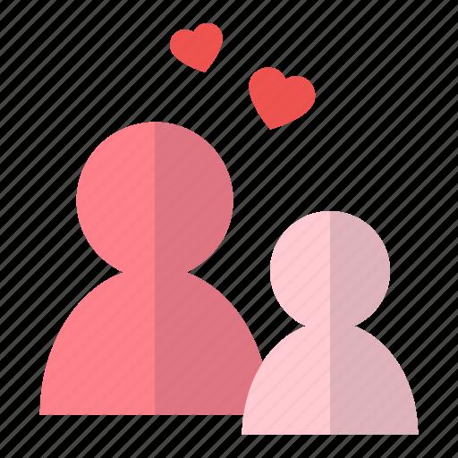 couple, heart, love, people, valentine icon