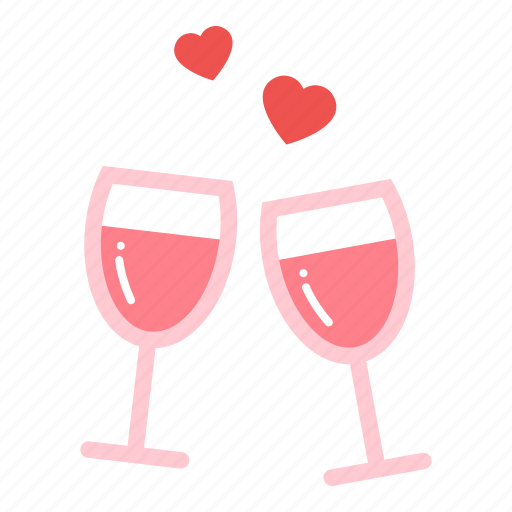 couple, dinner, drink, love, valentine icon