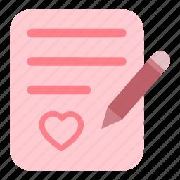 letter, love, valentine, write icon