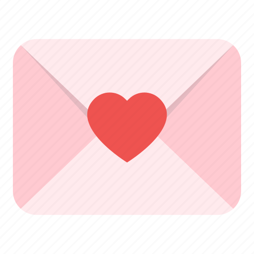 envelope, heart, love, mail, valentine icon