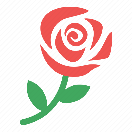 flower, gift, red, rose icon