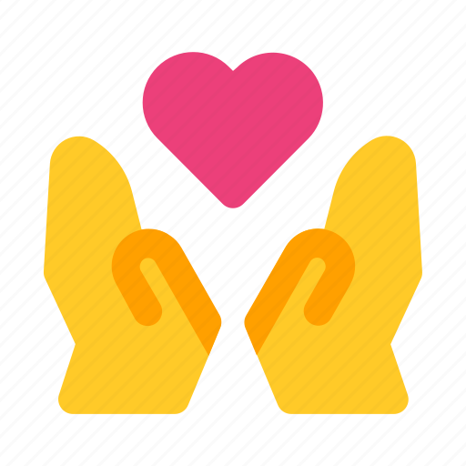 gift, give, hand, heart, love, romance, valentine icon