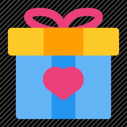 gift, heart, love, present, romance, valentine, wedding icon
