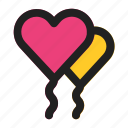 ballon, heart, love, party, romance, valentine, wedding icon