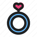 engagement, heart, love, marriage, ring, romance, wedding icon