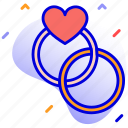 couple, engagement, engagement rings, rings icon