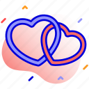 couple, hearts, love, relation icon