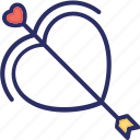 cupid, heart, love, shoot icon