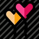 balloon, celebration, heart, love, romance icon