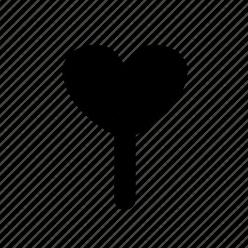 heart, ice cream, ice pop, valentines icon