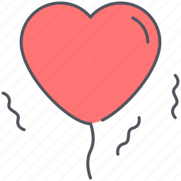 balloon, celebration, date, love, party, romantic, valentines icon
