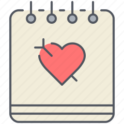 diary, journal, love, notebook, notes, romance, valentines icon