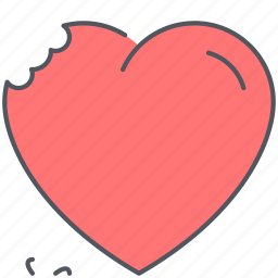 bite, divorse, heart, love, relationship, romance, valentines icon
