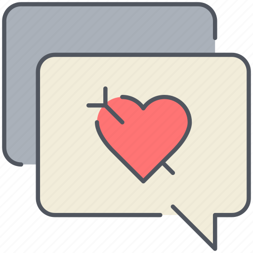 comments, love, message, romance, talk, valentines icon