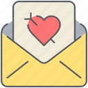 envelope, letter, love, mail, message, romance, valentines icon