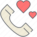 chat, communication, love, phone call, romantic, talk, valentines icon