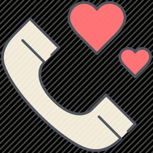 chat, communication, love, phone call, romantic, talk, valentines icon