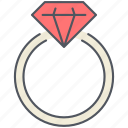 diamond, engagement, proposal, ring, romantic, valentines, wedding icon