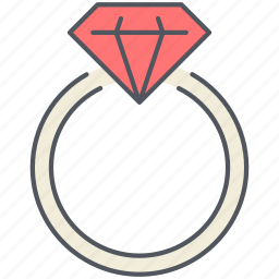 diamond, engagement, proposal, ring, romantic, valentines, wedding icon