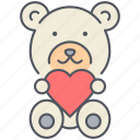 bear, gift, love, present, romance, teddy, valentines icon
