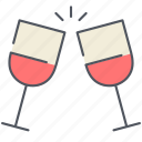 champagne, date, glasses, love, romantic, valentines, wine icon