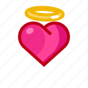angel, cupid, heart, love, valentine icon