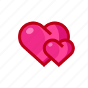 couple, dating, heart, love, valentine icon