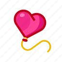 balloon, heart, love, romance, valentine icon